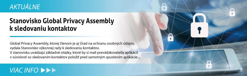 Stanovisko Global Privacy Assembly k sledovaniu kontaktov