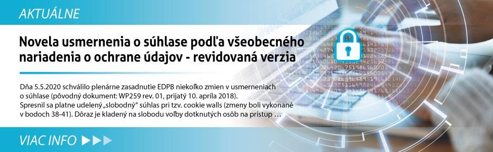 Novela usmernenia o súhlase podµa v¹eobecného nariadenia o ochrane údajov - revidovaná verzia
