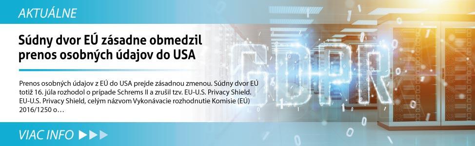 Súdny dvor EÚ zásadne obmedzil prenos osobných údajov do USA
