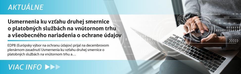 Usmernenia ku vz»ahu druhej smernice o platobných slu¾bách na vnútornom trhu a v¹eobecného nariadenia o ochrane údajov